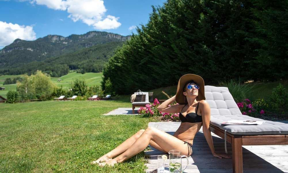 Where can you soak up the sun in an alpine holiday?