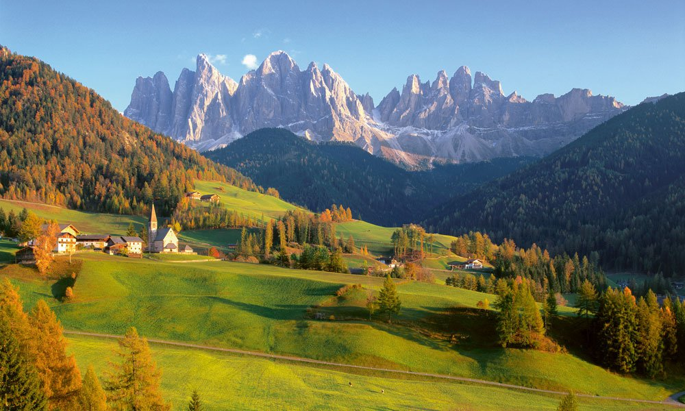 See up close the world famous mountains during a holiday in the Dolomites