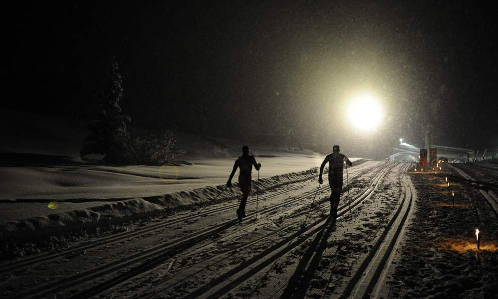 Enjoy cross-country skiing on the Seiser Alm at full moon