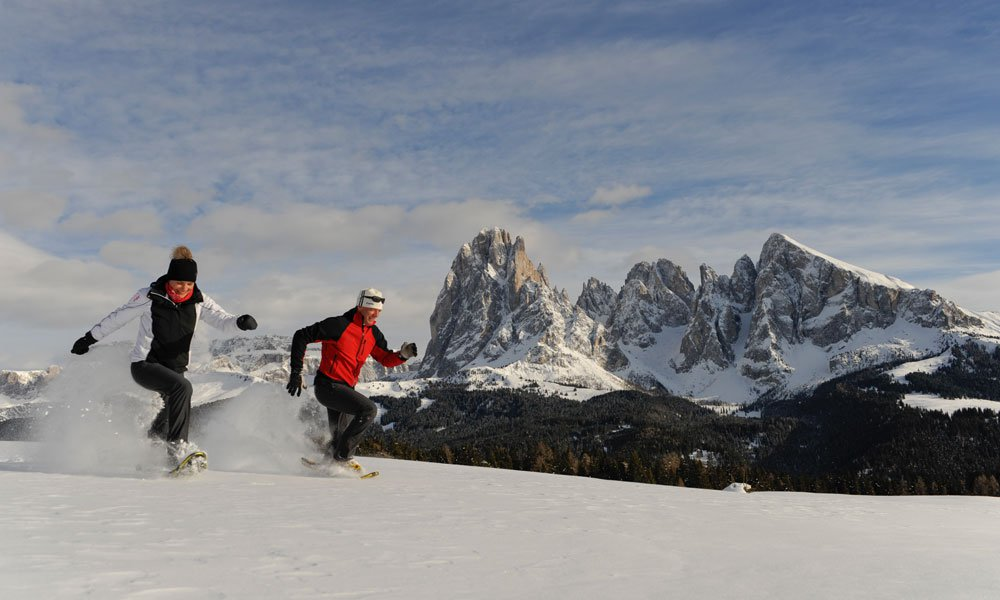 Snowshoeing on the Seiser Alm: a real paradise of routes