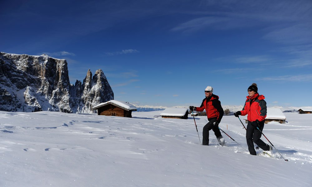 Snowshoeing on the Seiser Alm: for beginners as well