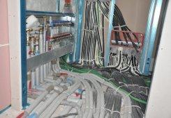 Die technische Rohmontage in der 2. Etage ist abgeschlossen.