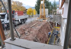 Das Fundament wird verstärkt.