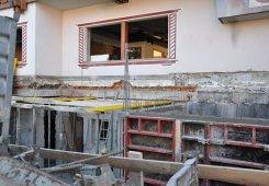Unterirdischer Zubau Dorfseite im Kellergeschoss