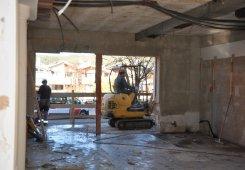 Durchbruch vom Buffet-Raum zum Neubau / Ehemalige Hotelbar