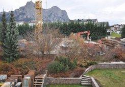 Ordnung am Baugelände erleichtert wesentlich die Arbeit.