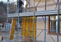 Stahlbeton Verstärkung der Hausecke auf der Südseite.